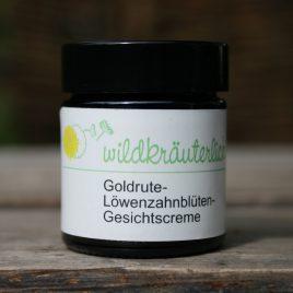 Gesichtscreme für Mischhaut <br> Goldrute-Löwenzahnblüten-Creme<br><br>stärkend & ausgleichend