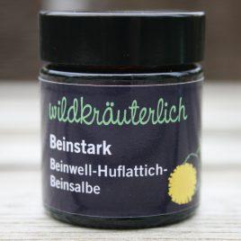 – Beinstark – <br><br> Beinwell-Huflattich-<br>Naturbeinsalbe <br><br>regenerierend &<br>ausleitend