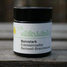 – Beinstark – <br><br> Beinwell-Brennnessel-Edelsteinsalbe für die Beine<br><br>