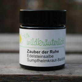-Zauber der Ruhe-  <br><br> Sumpfhelmkraut-Baldrian-Edelsteinsalbe<br><br>