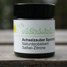 – Achselzauber Sportsfreund –<br> Naturdeobalsam <br>Salbei-Zitrone