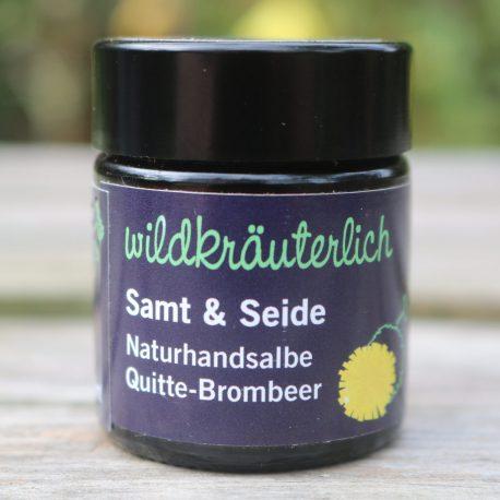 Handsalbe Quitte brombeer Naturkosmetik München Wildkräuterlich